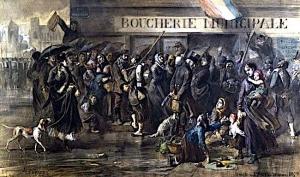 Pendant le siège de Paris en 1870