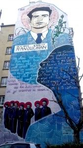 Fresque Manouchian de Popof  Affiche rouge Paris 20e