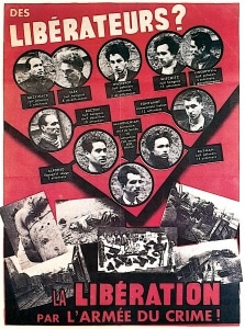 L Affiche rouge groupe  Manouchian