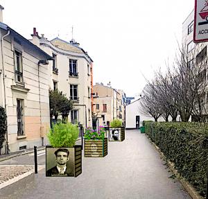 Rue Manouchian végétalisation et parcours historique