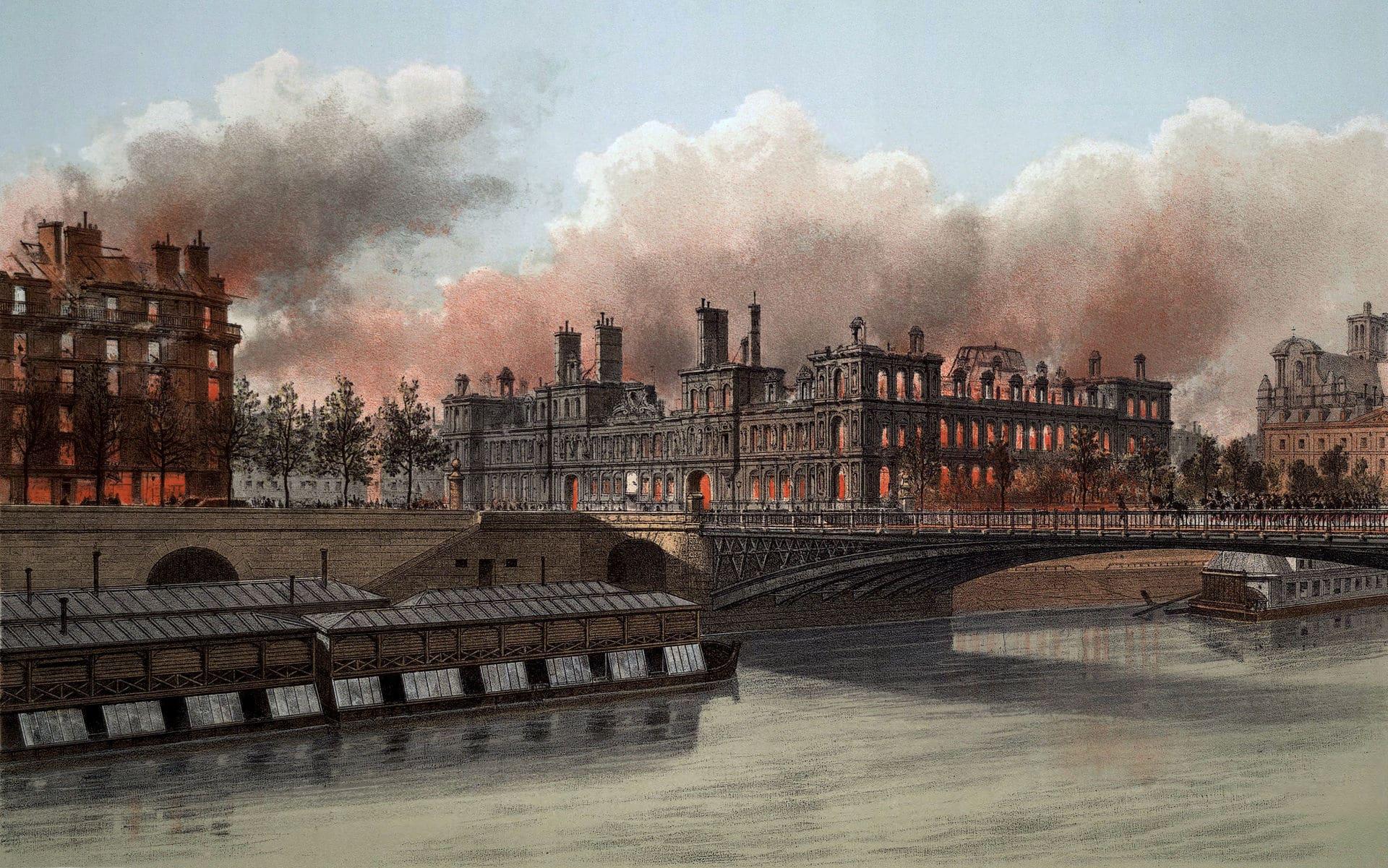 L'incendie de l'Hôtel de ville de Paris par les communards