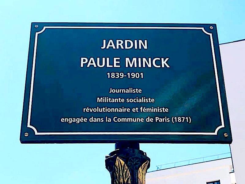 Inauguration du jardin Paule Mink à Paris