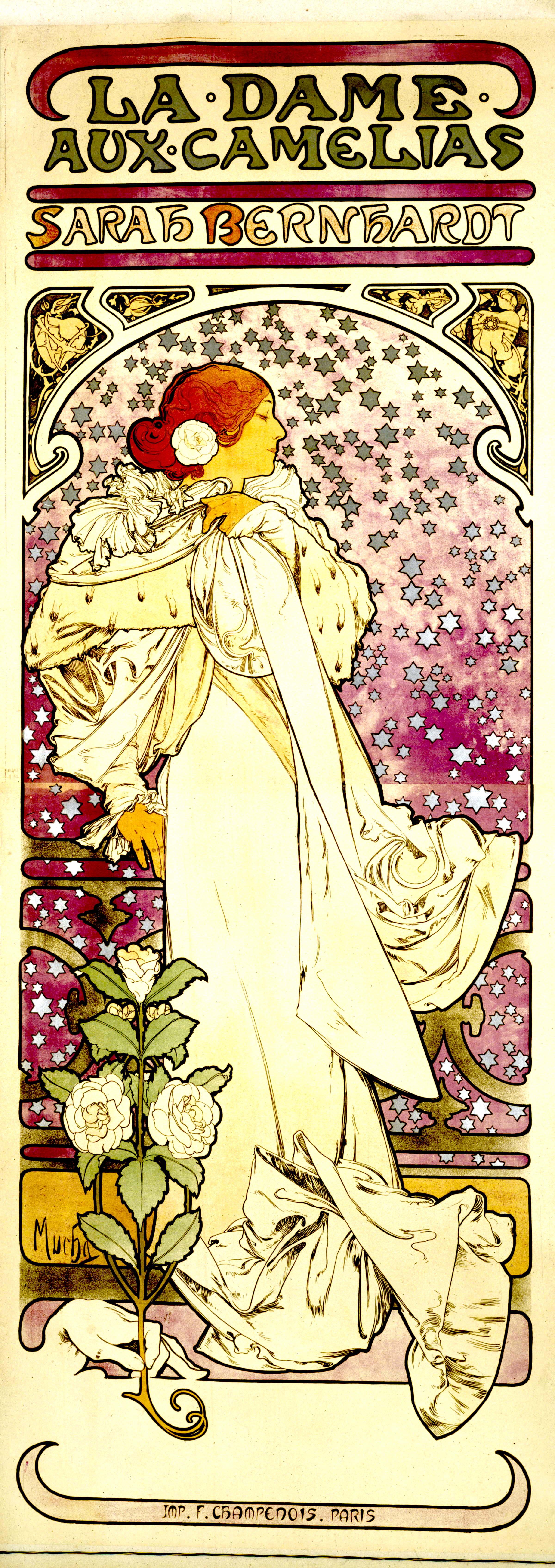 Sarah Bernhardt et la publicité à la mode