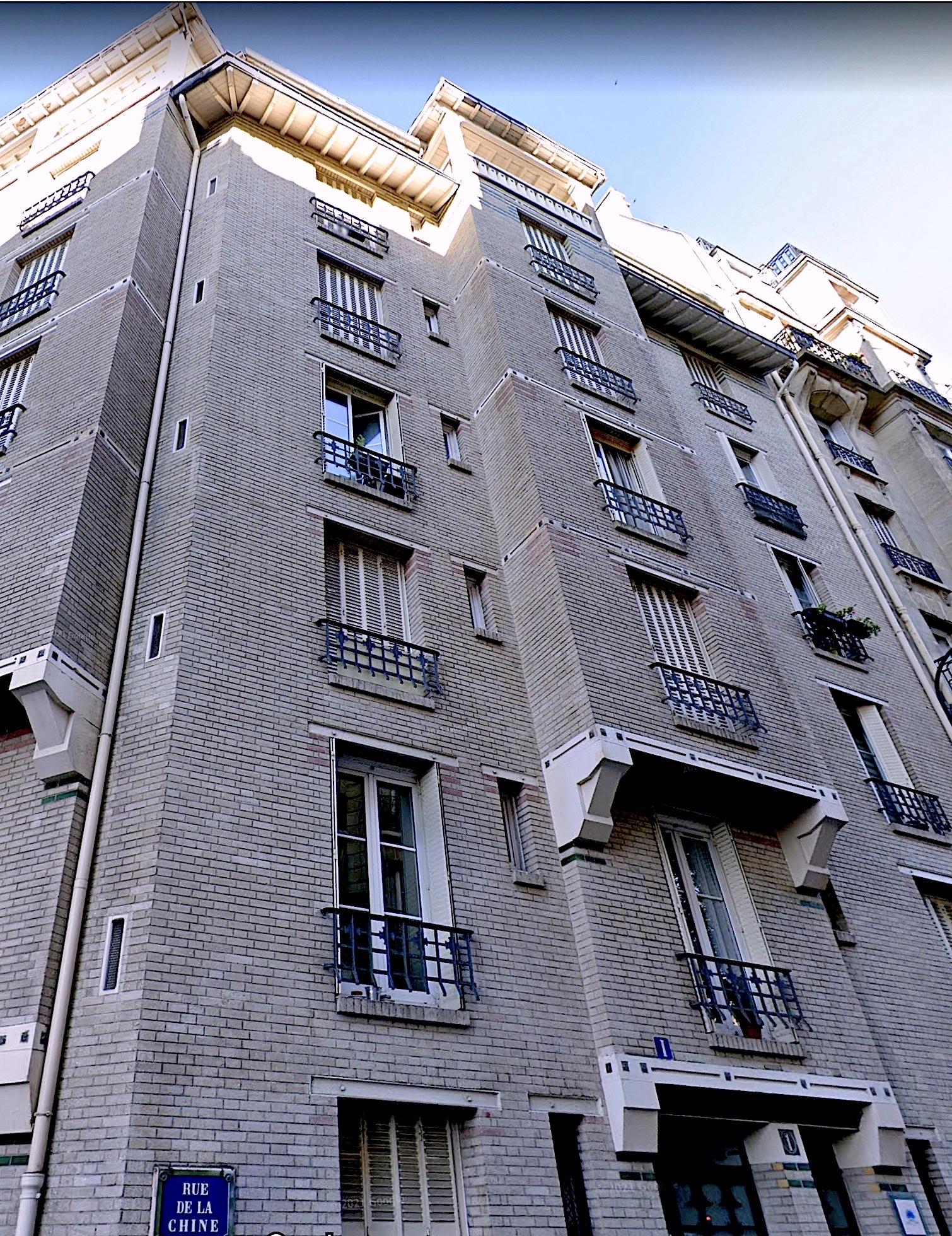 Une construction de l'architecte Sauvage dans le 20e